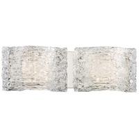 George Kovacs P5282-077-L Forest Ice LED 19 inch Chrome Bath Light Wall Light