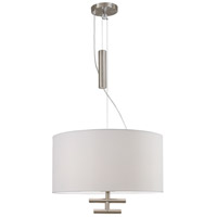 Counter Weights 3 Light 24 inch Satin Steel Pendant Ceiling Light