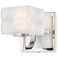 Squared 1 Light 5 inch Polished Nickel Bath Sconce Wall Light