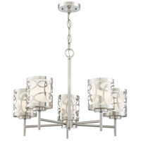George Kovacs P5715-084 Links 5 Light 24 inch Brushed Nickel Chandelier Ceiling Light