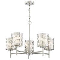 George Kovacs P5715-084 Links 5 Light 24 inch Brushed Nickel Chandelier Ceiling Light