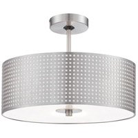 George Kovacs P5747-084 Grid 3 Light 16 inch Brushed Nickel Semi Flush Mount Ceiling Light