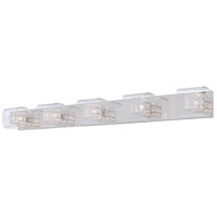 Jewel Box 5 Light 47 inch Chrome Bath Bar Wall Light