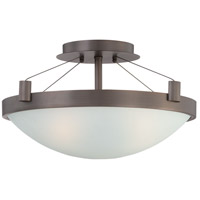George Kovacs P591-647 Suspended 3 Light 17 inch Copper Bronze Patina Semi Flush Mount Ceiling Light