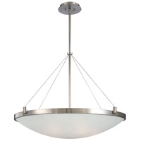 George Kovacs P593-084 Suspended 6 Light 35 inch Brushed Nickel Pendant Ceiling Light