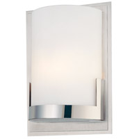 Convex 1 Light 5 inch Chrome ADA Wall Sconce Wall Light