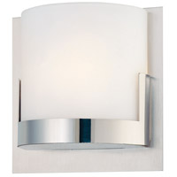 Convex 1 Light 5 inch Chrome Bath Sconce Wall Light