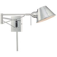 George Kovacs P611-077 Georges Reading Room 8 inch 4 watt Chrome Swing Arm Wall Lamp Wall Light in Xenon