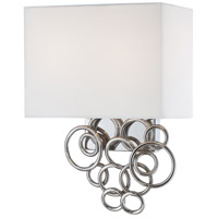 Ringlets 2 Light 11 inch Chrome Wall Sconce Wall Light