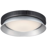 Gizmo LED 16 inch Black Flush Mount Ceiling Light, Convertible to Pendant