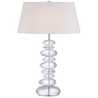 George Kovacs P725-077 Signature 30 inch 100 watt Chrome Table Lamp Portable Light