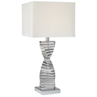 Signature 30 inch 150 watt Chrome Table Lamp Portable Light