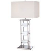 Signature 34 inch 100 watt Polished Nickel Table Lamp Portable Light