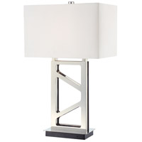 Signature 30 inch 100 watt Polished Nickel Table Lamp Portable Light