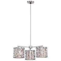 Layover 3 Light 24 inch Chrome Chandelier Ceiling Light