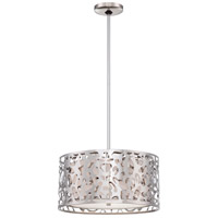 Layover 2 Light 16 inch Chrome Drum Pendant Ceiling Light