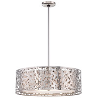 Layover 4 Light 24 inch Chrome Drum Pendant Ceiling Light