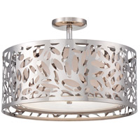 Layover 2 Light 18 inch Chrome Semi Flush Mount Ceiling Light