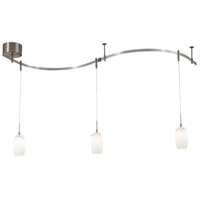 George Kovacs P8003-1-084 GK Lightrail 3 Light Brushed Nickel Mini Pendant Rail Kit Ceiling Light, Low Voltage