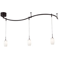 GK Lightrail 3 Light 12V Sable Bronze Patina Mini Pendant Rail Kit Ceiling Light, Low Voltage