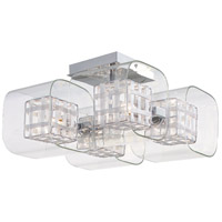 George Kovacs P802-077 Jewel Box 4 Light 12 inch Chrome Semi Flush Mount Ceiling Light