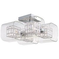 George Kovacs P802-077 Jewel Box 4 Light 12 inch Chrome Semi-Flush Mount Ceiling Light