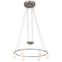 Counter Weights 6 Light 25 inch Brushed Nickel Chandelier Ceiling Light, Low Voltage