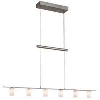Counter Weights 6 Light 47 inch Brushed Nickel Island Light Ceiling Light, Low Voltage