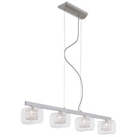 George Kovacs P804-077 Jewel Box 4 Light 39 inch Chrome Island Light Ceiling Light