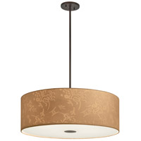 George Kovacs P8087-615 Kimono 4 Light 24 inch Antique Dorian Bronze Drum Pendant Ceiling Light