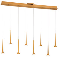 George Kovacs P8148-668-L Honey Drip LED 3 inch Sunset Gold Pendant Ceiling Light