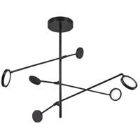 George Kovacs P8150-066-L Radar LED 7 inch Black Pendant Ceiling Light