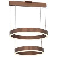 George Kovacs P8153-670-L Rendezvous LED 24 inch Satin Bronze Pendant Ceiling Light