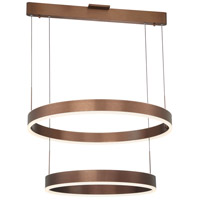 George Kovacs P8154-670-L Rendezvous LED 32 inch Satin Bronze Pendant Ceiling Light