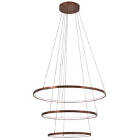 George Kovacs P8163-670-L Full Orbit LED 32 inch Satin Bronze Pendant Ceiling Light