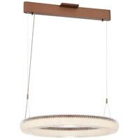 George Kovacs P8172-670-L Roulette LED 26 inch Satin Bronze Pendant Ceiling Light