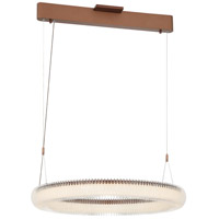 George Kovacs P8172-670-L Roulette LED 26 inch Satin Bronze Pendant Ceiling Light