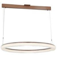 George Kovacs P8173-670-L Roulette LED 34 inch Satin Bronze Pendant Ceiling Light