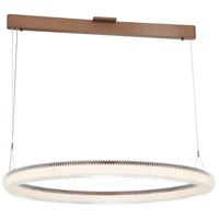 George Kovacs P8173-670-L Roulette LED 34 inch Satin Bronze Pendant Ceiling Light