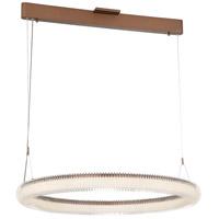 George Kovacs P8174-670-L Roulette LED 41 inch Satin Bronze Pendant Ceiling Light