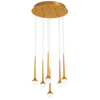 George Kovacs P8226-668-L Honey Drip LED 16 inch Sunset Gold Pendant Ceiling Light
