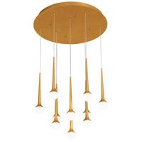 George Kovacs P8229-668-L Honey Drip LED 22 inch Sunset Gold Pendant Ceiling Light