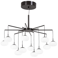 Georges Web LED 26 inch Bronze with Gold Dust Chandelier Ceiling Light, Convertible to Semi-Flush