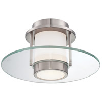 George Kovacs P854-084 Signature 1 Light 13 inch Brushed Nickel Flush Mount Ceiling Light