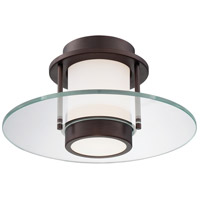 George Kovacs P854-647 Signature 1 Light 13 inch Copper Bronze Patina Flush Mount Ceiling Light