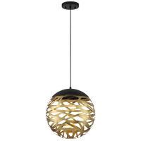 George Kovacs P934-688-L Golden Eclipse LED 14 inch Coal And Honey Gold Pendant Ceiling Light