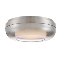 George Kovacs P952-2-084-L First Encounter Family LED 15 inch Brushed Nickel Flush Mount Ceiling Light