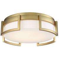 George Kovacs P953-1-248-L Bezel Set LED 10 inch Honey Gold Flush Mount Ceiling Light