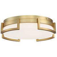 George Kovacs P953-2-248-L Bezel Set LED 15 inch Honey Gold Flush Mount Ceiling Light