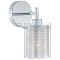 Grid 1 Light 5 inch Chrome Wall Sconce Wall Light